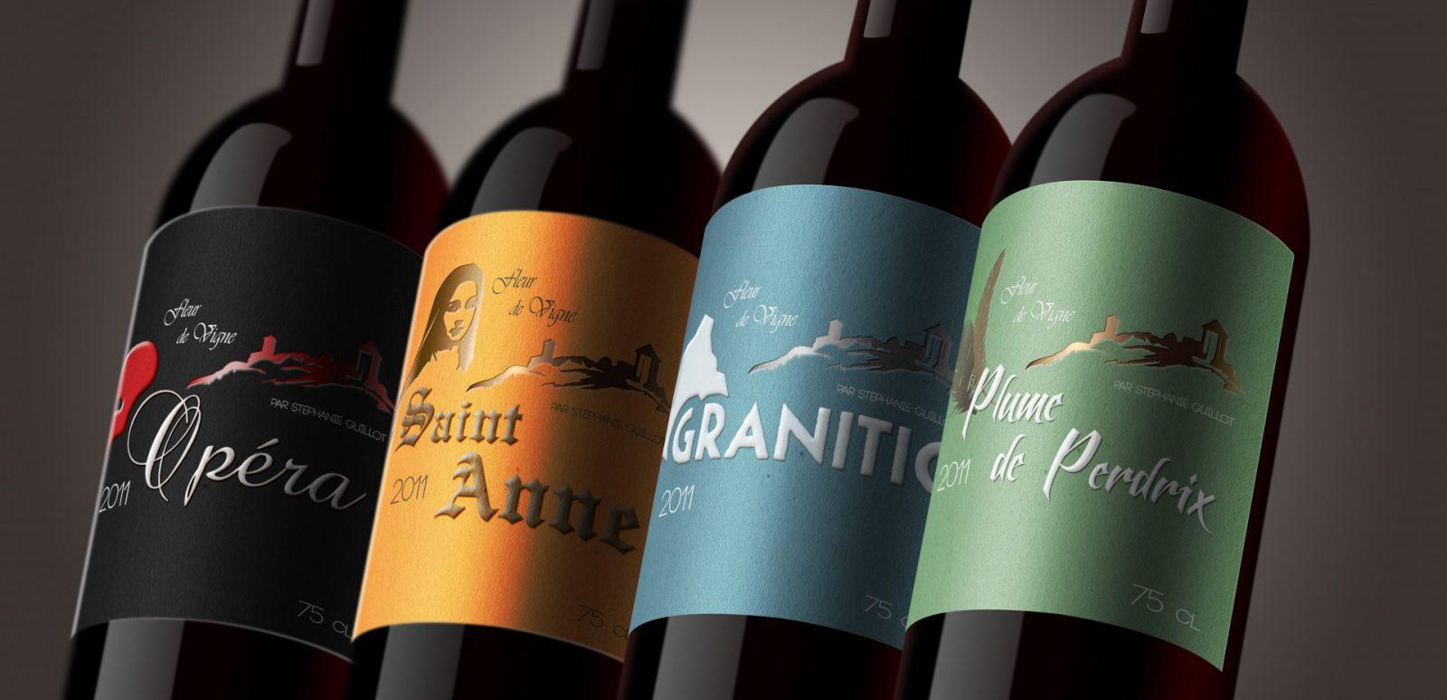Étiquettes de vin pour «Fleur de Vigne»