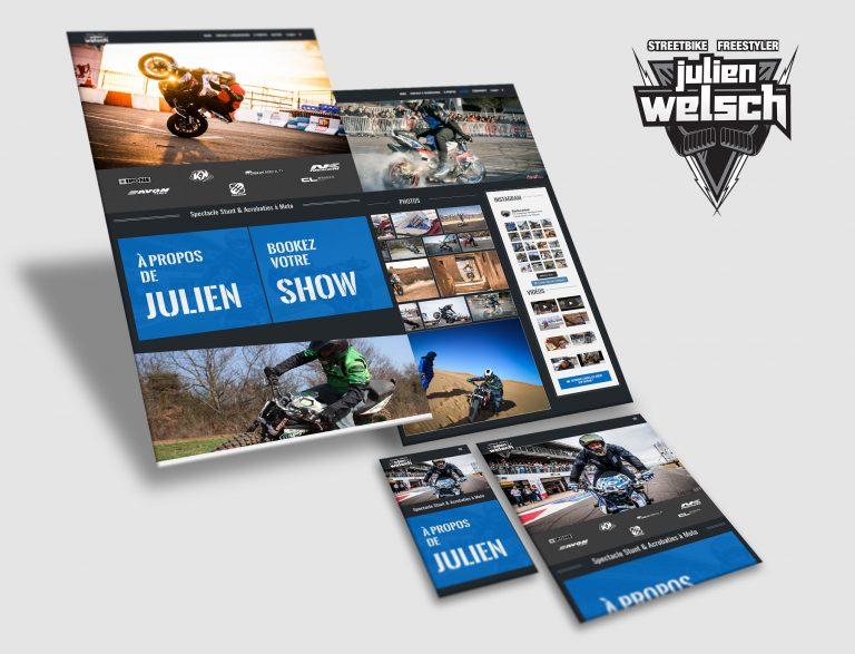 Site Web pour Julien Welsch Sportif Professionnel et Stuntrider à moto