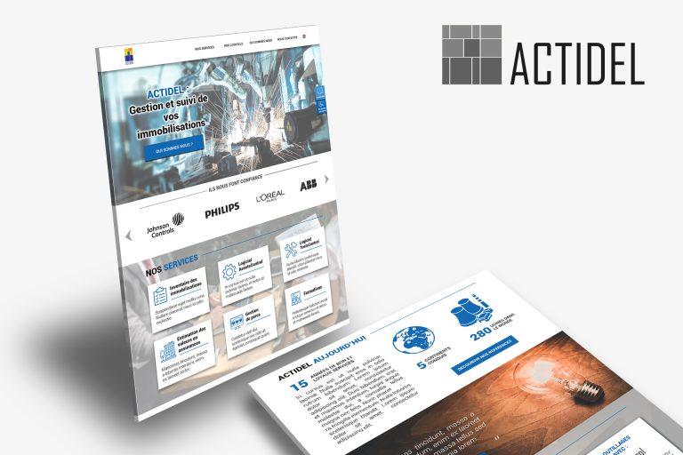 Site Web pour ACTIDEL, Gestion en Immobilisations Financières