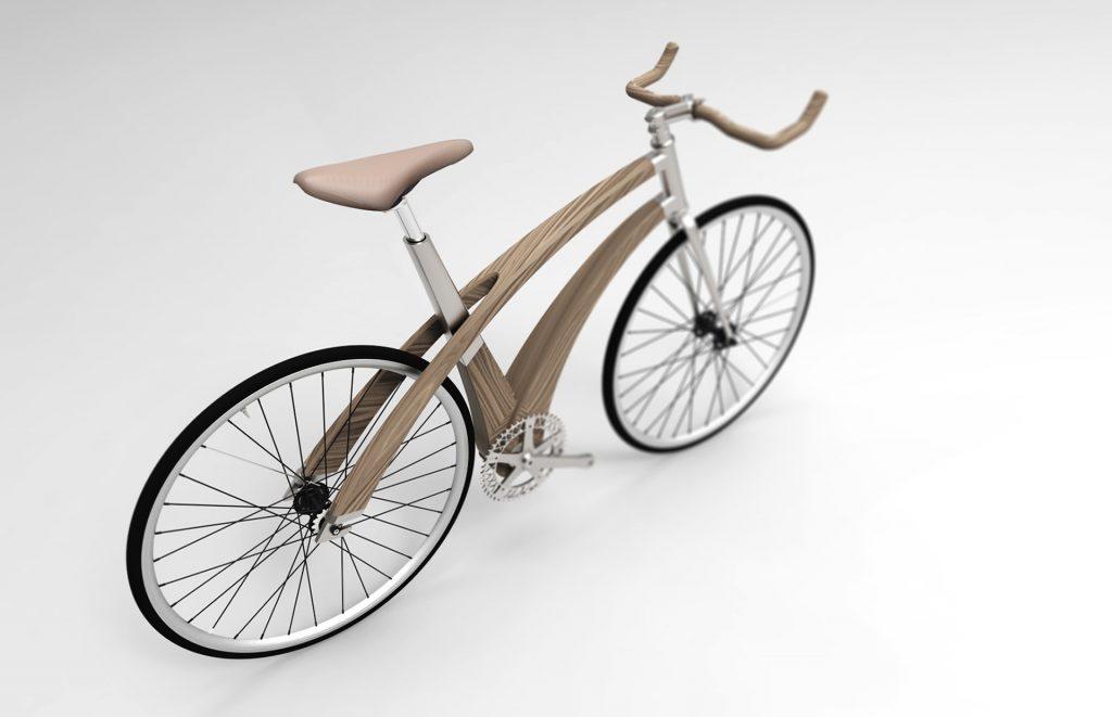 Concept Vélo en Bois et Aluminium Downgrade Bike 3d