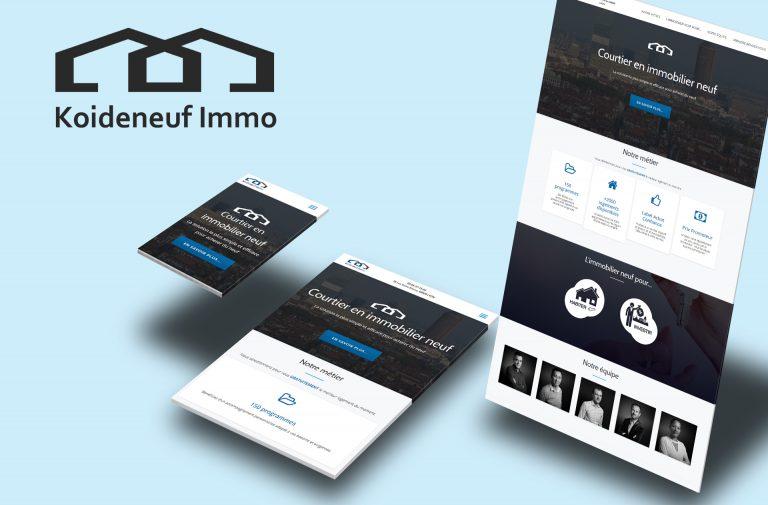 Site Web pour Koideneuf Immo, Agence Immobilière à Lyon
