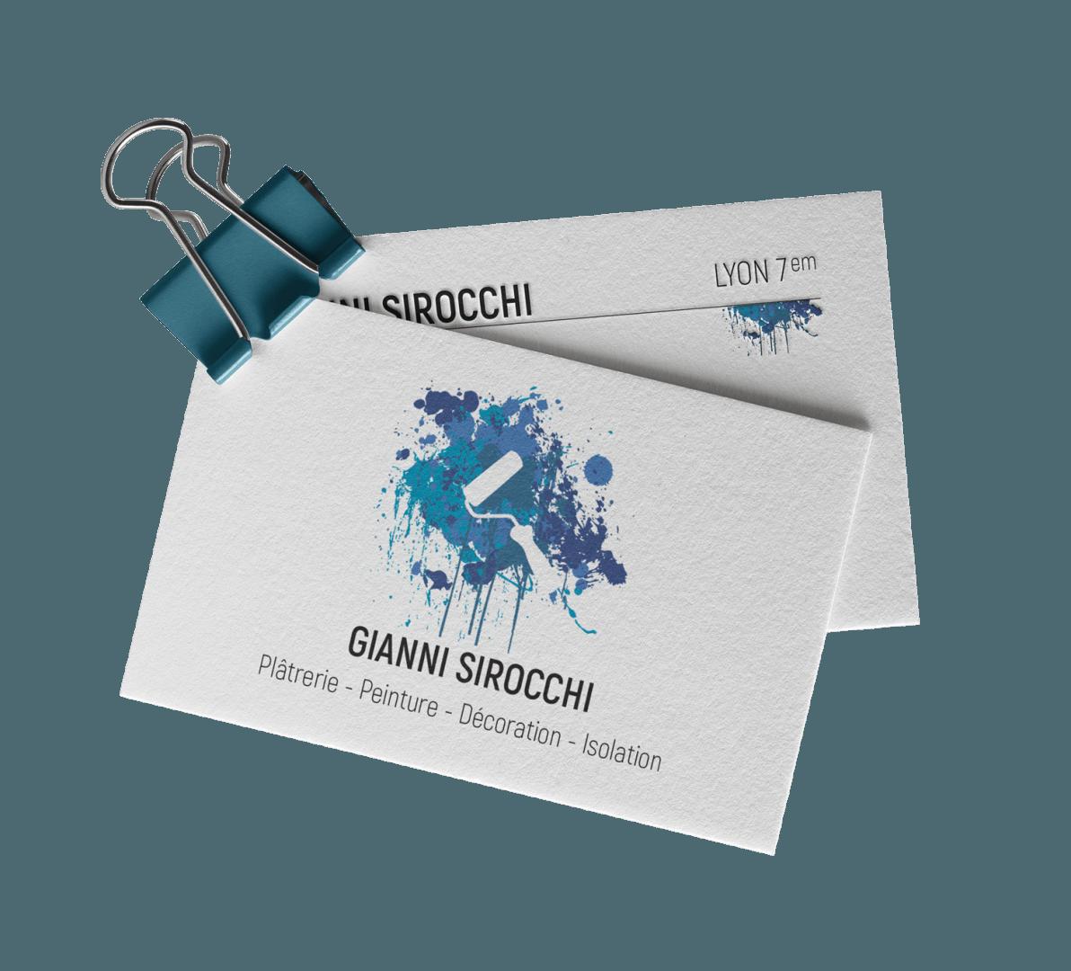 Carte de visite pour Gianni Sirocchi - Entrepreneur Artisan, Plâtrier Peintre