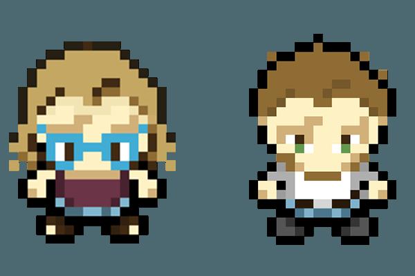 Pixel Art Fab et Ju