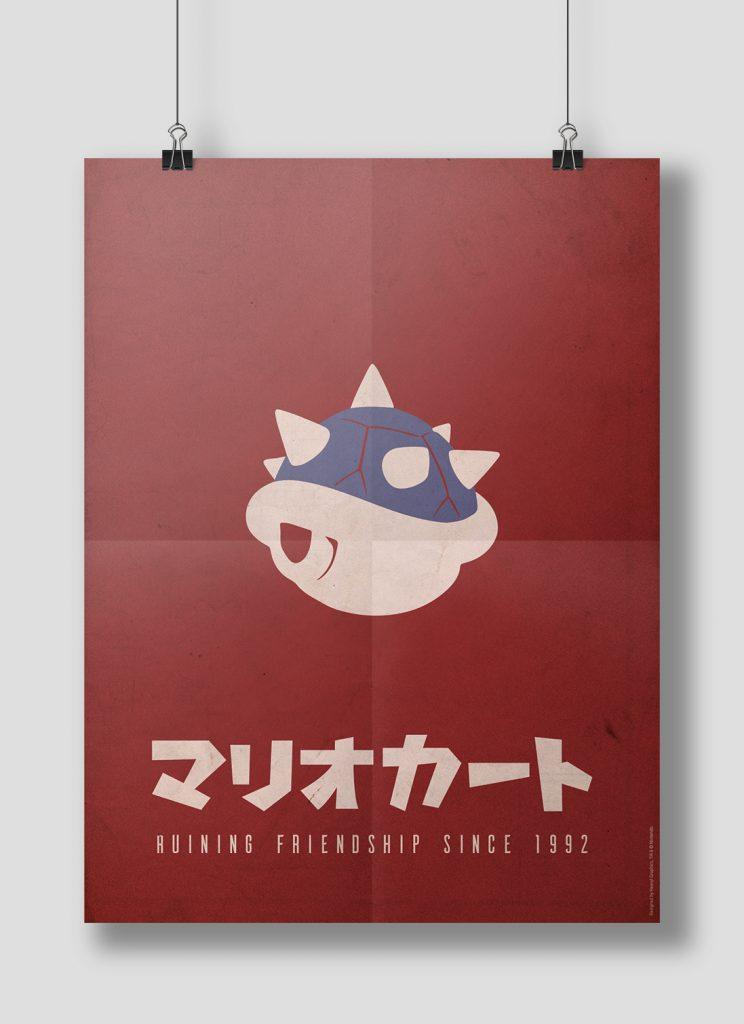 Création graphique: affiche Mario Kart