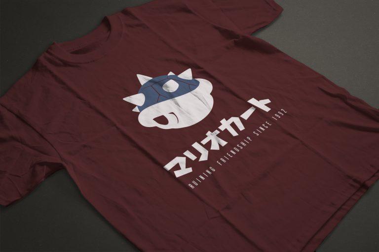 Design et création graphique: T-shirt Mario Kart carapace
