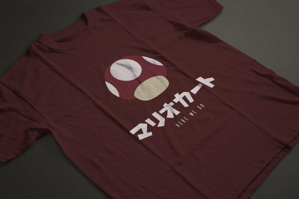 Design et création graphique: T-shirt Mario Kart