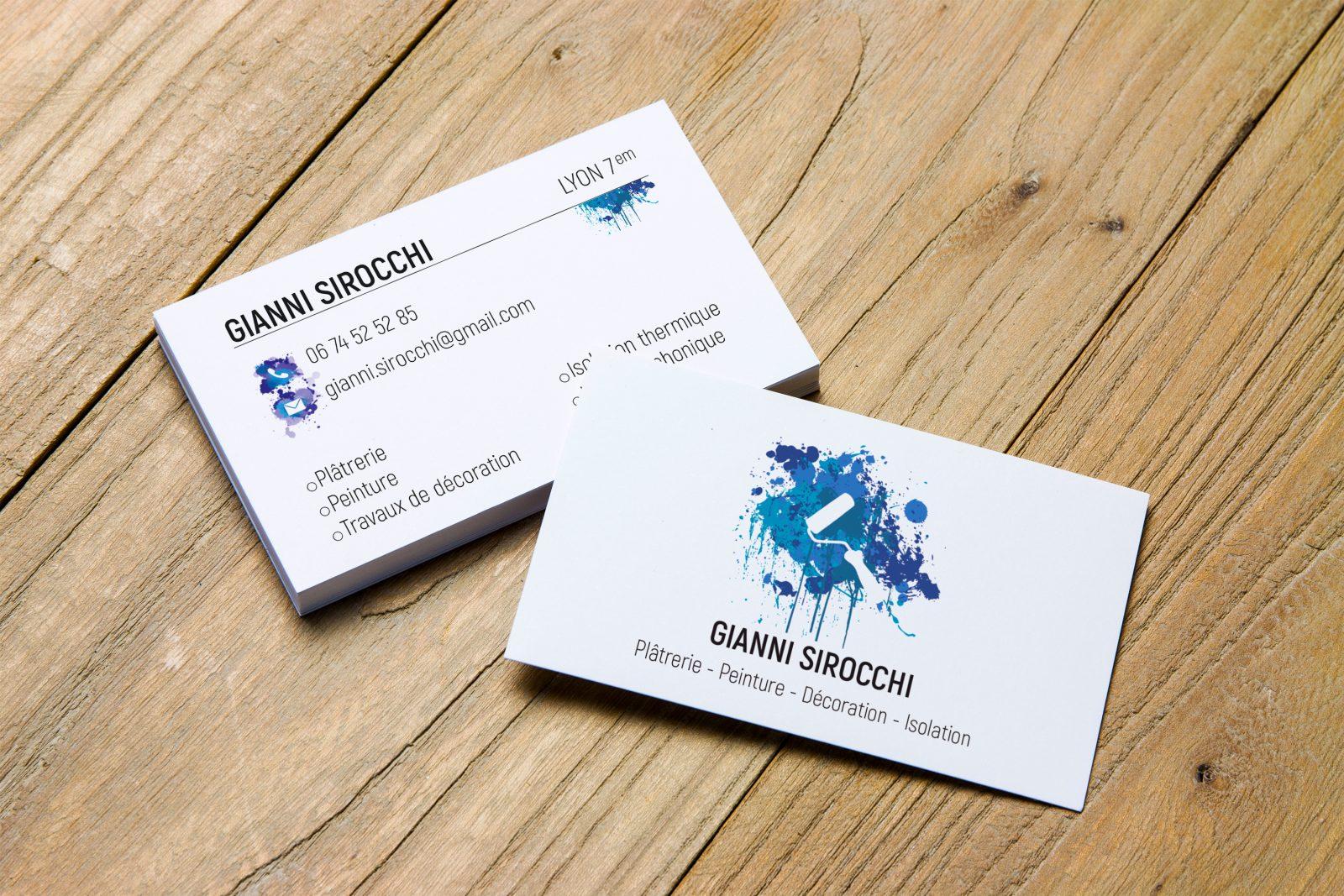 Identité visuelle et carte de visite pour un artisan local