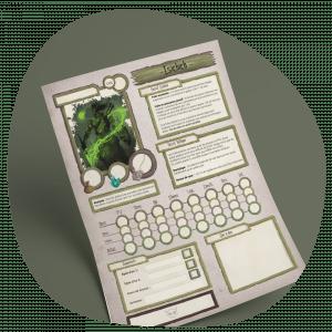 Design Graphique et illustration: Création de fiches de personnage pour un jeu de rôle