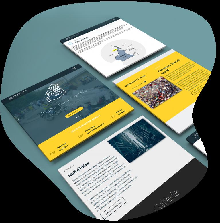 """Webdesign et création de site web pour """"Un jour pour ma ville"""""""