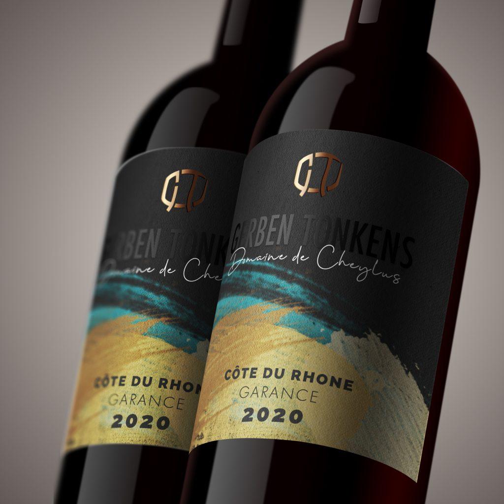 Identité Visuelle, design graphique et Packaging de bouteille de vin pour Gerben Tonkens